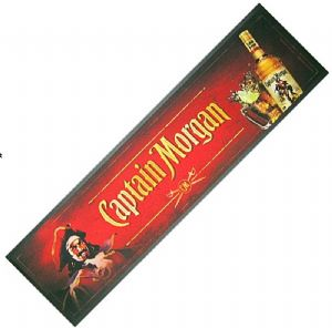 Captain Morgan Rum large bar wetstop runner    (pp)